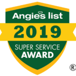 We are proud to have recieved the 2019 Angies List Super Service Award for our excellence in damage restoration!
